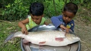 Funny Kids Picnic - Village Children Can Transform Simple Thing To Toys - Black Carp Fish Cooking