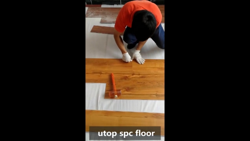 Unishpush installation for spc flooring