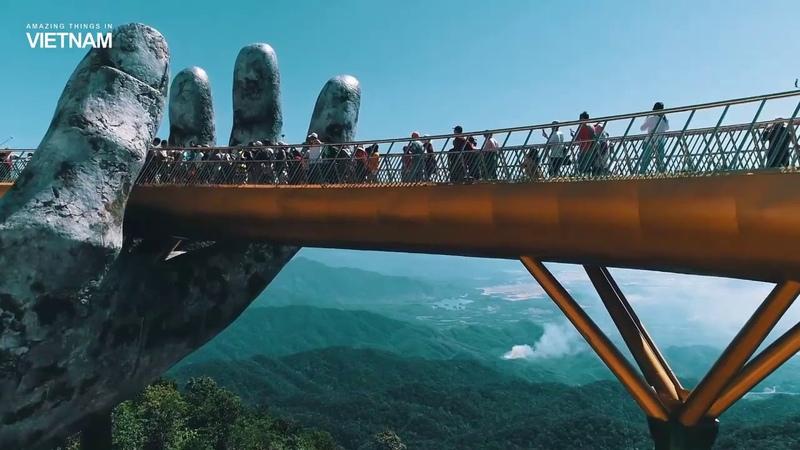 Cầu Vàng Bà Nà hills Đà Nẵng ( Xin Chào Việt Nam )