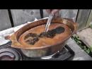 Обработка изделий горячим маслом (канал Народные традиции)