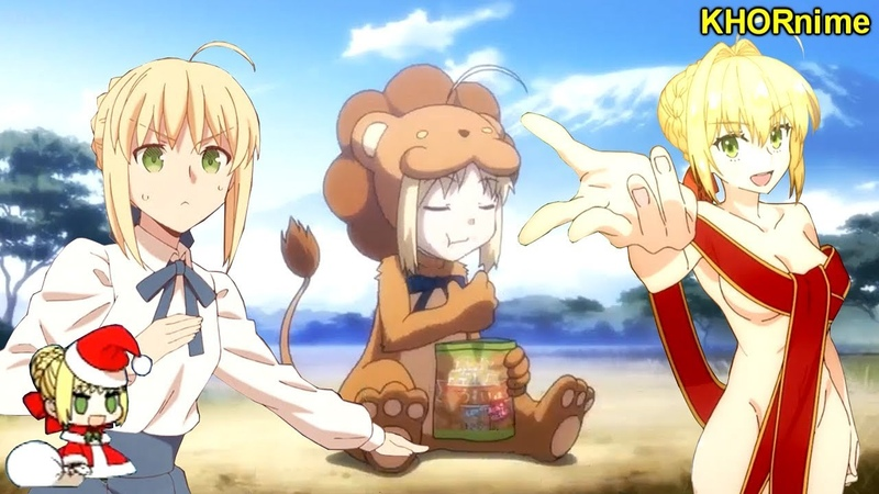 SABER IS TOO F* KING KAWAII Funny Cute Anime Moments from Fate Series