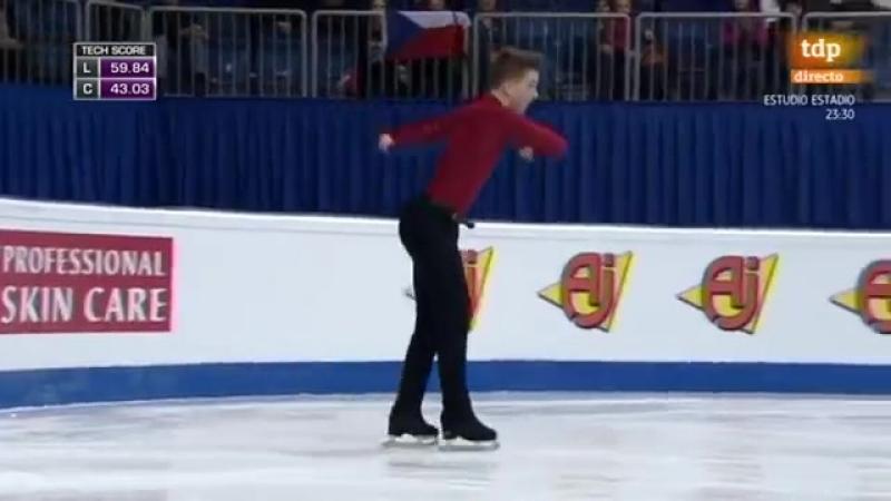 Jiri Belohradsky. 2016 European Figure Skating Championships. FS