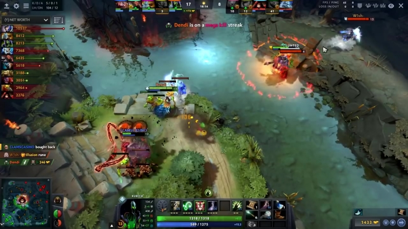 Dendi Rubick doing Pudge Role as Always - Dota 2 Master Hooker