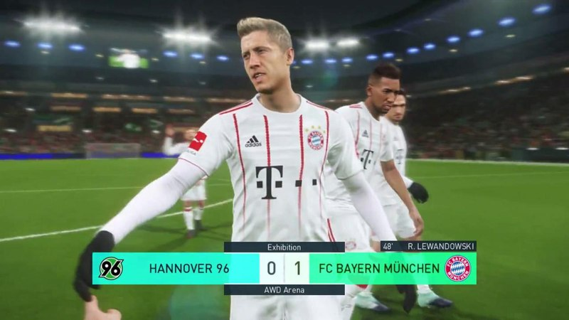 Hannover vs Bayern Munchen Full Match Goals 2018 PES 2018 Gameplay PC