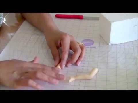 Gum paste Legs for sugar models Cake Decorating Tutorial Veena's Art of Cakes
