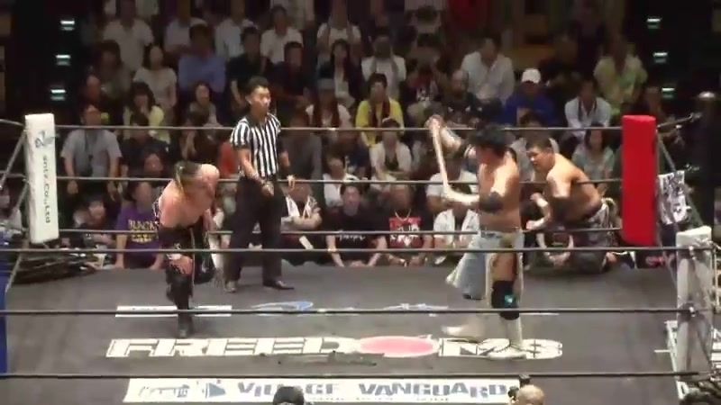 Mammoth Sasaki KAZMA SAKAMOTO vs Toru Sugiura Kamui FREEDOMS Jun Kasai Produce 2018 Series Opener