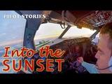 Pilot Stories Flight to Samara. Part 1. Departing into the sunset.
