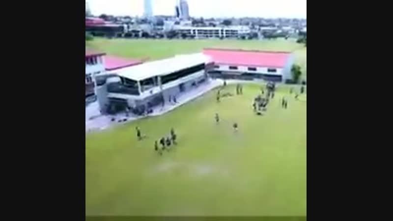 Дети сбили дрон