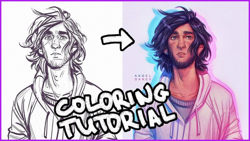 Painting Tutorial | Coloring Ninig's Sketch