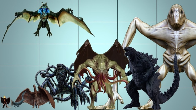 Size comparison of Giants and Monsters (Fan-Supported Video)