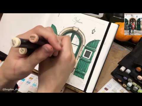Поэтапный урок рисования спиртовыми маркерами