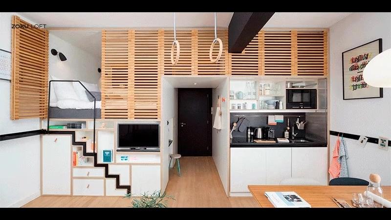 Идея функциональной квартиры, которая занимает всего 24 кв.м