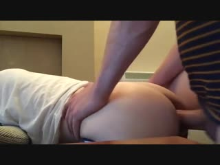 Hung daddy with thick cock breeds hole deep
