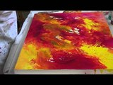 Nancy Christy-Moore demonstrates pouring your paintings.