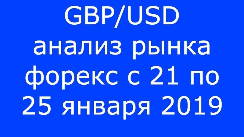 GBP/USD - Еженедельный Анализ Рынка Форекс c 21 по 25.01.2019. Анализ Форекс.