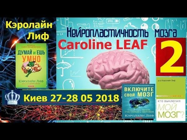 Керолайн Лиф, Caroline Leaf, 2 часть, Предназначена быть Счастливой, 28 04 2018
