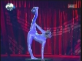 Contortion-Flexible Girl in the Moira Orfei Circus