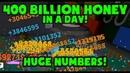 400 Billion in one DAY Roblox Bee Swarm Simulator