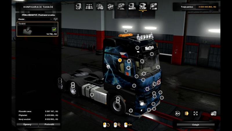 [ETS2 v1.34]Euro Truck Simulator 2 Actros MP4 Edit Rigid Chassis