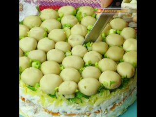 Невозможно устоять! праздничный, красивый и очень вкусный салат грибная поляна _