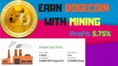 New Dogecryp Cloud Mining Earn 3000 DogeCoin Per Day 5 75% Profit