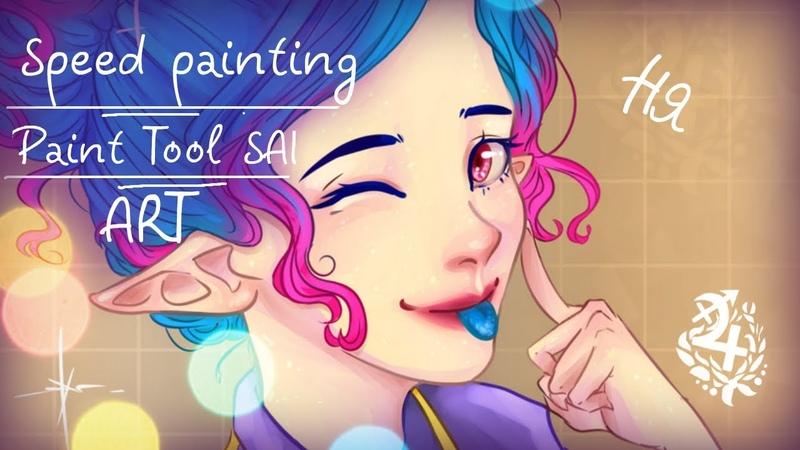 Speed painting Paint Tool SAI DeyПодарок스피드 페인팅아