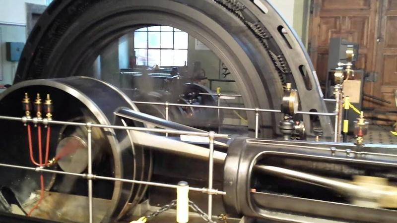 Die Sulzer Tandemverbund-Dampfmaschine mit MFO Schwungradgenerator, erbaut 1904