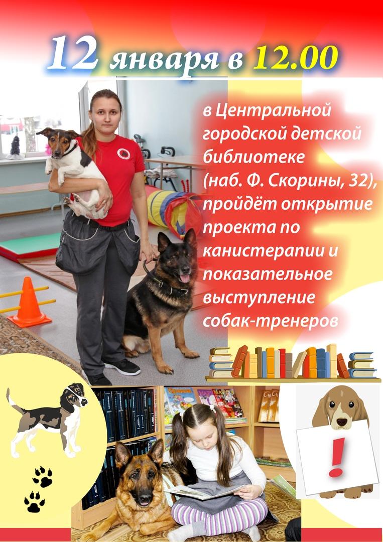 12 января состоится открытие проекта по канистерапии и показательное выступление собак-терапевтов