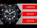 LUMINOX SENTRY MILITARY MEN'S WATCH REVIEW MODEL: 0201.SL
