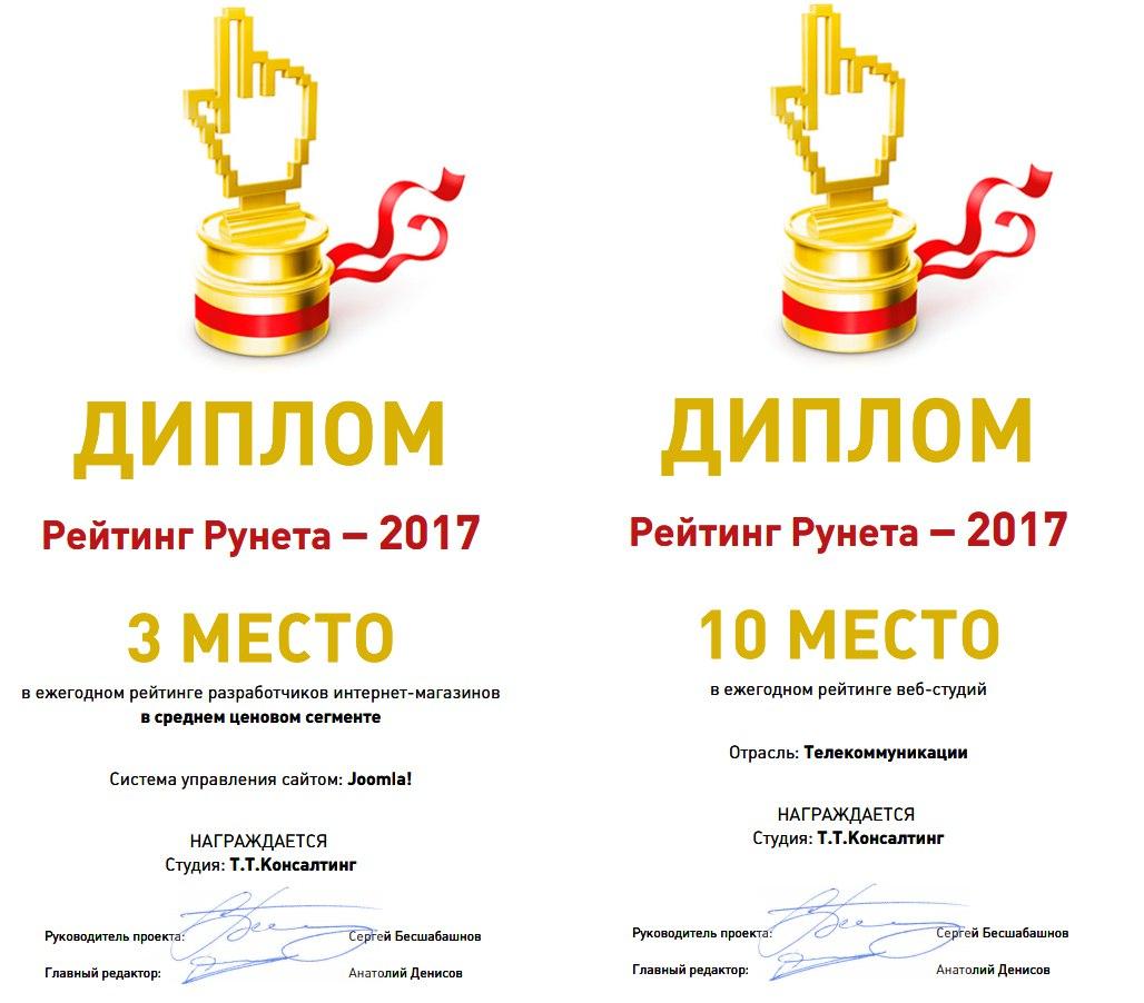Т.Т.Консалтинг заняла третье место в ежегодном рейтинге Рунета 2017
