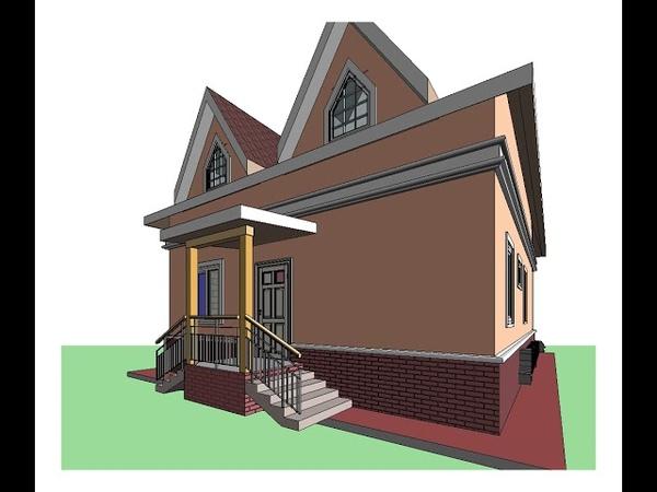 Проект дома из газоблоков и кирпича