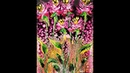 DA120 HOT PINK WILDFLOWERS Acrylic Swipe with Embellishment Wet on Wet with Sandra Lett