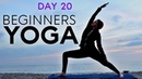 Beginners Yoga Flow 20 min Total Body Workout Day 20 Fightmaster Yoga Videos