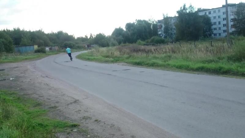Мотосамокат с бензопилы Урал