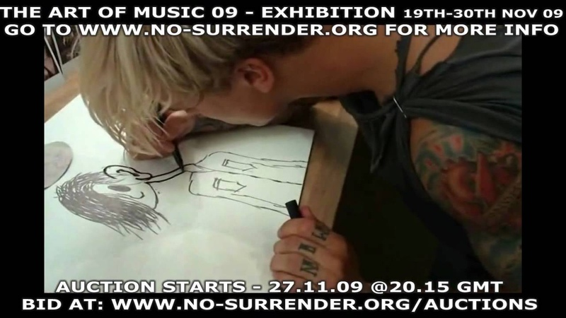 PLACEBO CREATE ART LIVE FOR CANCER CHARITY NO SURRENDER EXHIBITION AND AUCTION - NOV 09