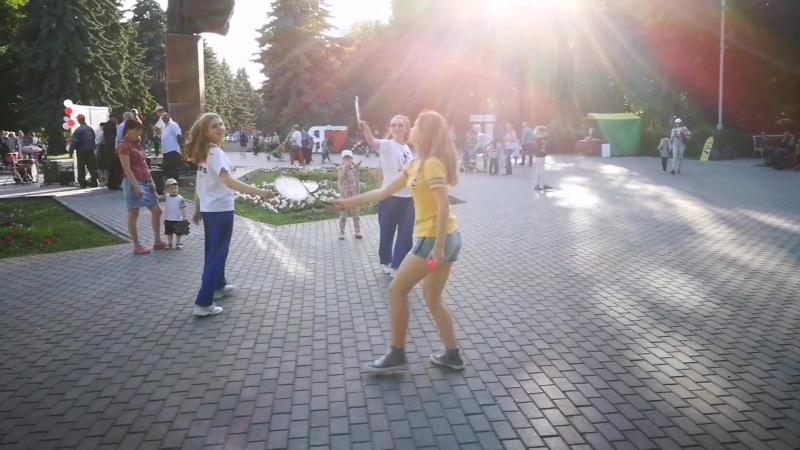 Ролибол в Липецке. День России, Быханов сад.