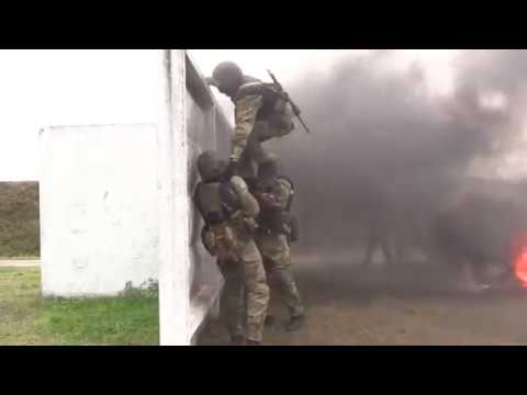 Russian special forces training in city Balashikha Odon VV MVD