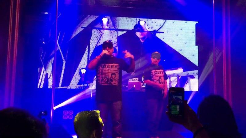 BAD BALANCE в составе ШeFF, Al Solo и DJ Топор исполнили трек Городская тоска в Риге. (13 апреля 2018 г.) (видео)