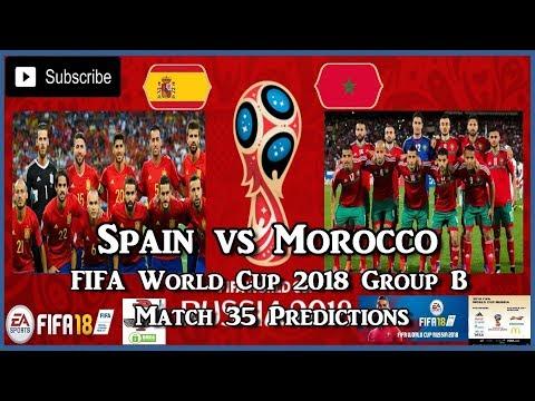 Spain vs Morocco | FIFA World Cup 2018 Group B | Match 35 Predictions FIFA 18