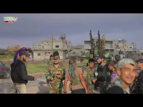 Syria Daraa Militants flee towards the border Деръа Боевики бегут к границе