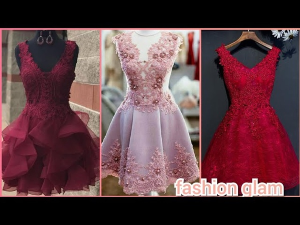 Top stylish and gorgeous flower applique Homecoming dressesshort prom dressshort frocks