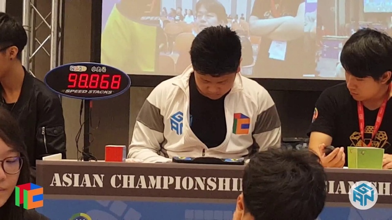 6x6 World Record Single (1:13.82) and Mean (1:17.10) WCA Asian Championship 2018