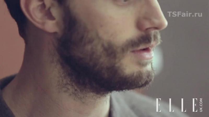 Джейми Дорнан за кадром фотосессии для «ELLE UK» [2015] - Русские субтитры