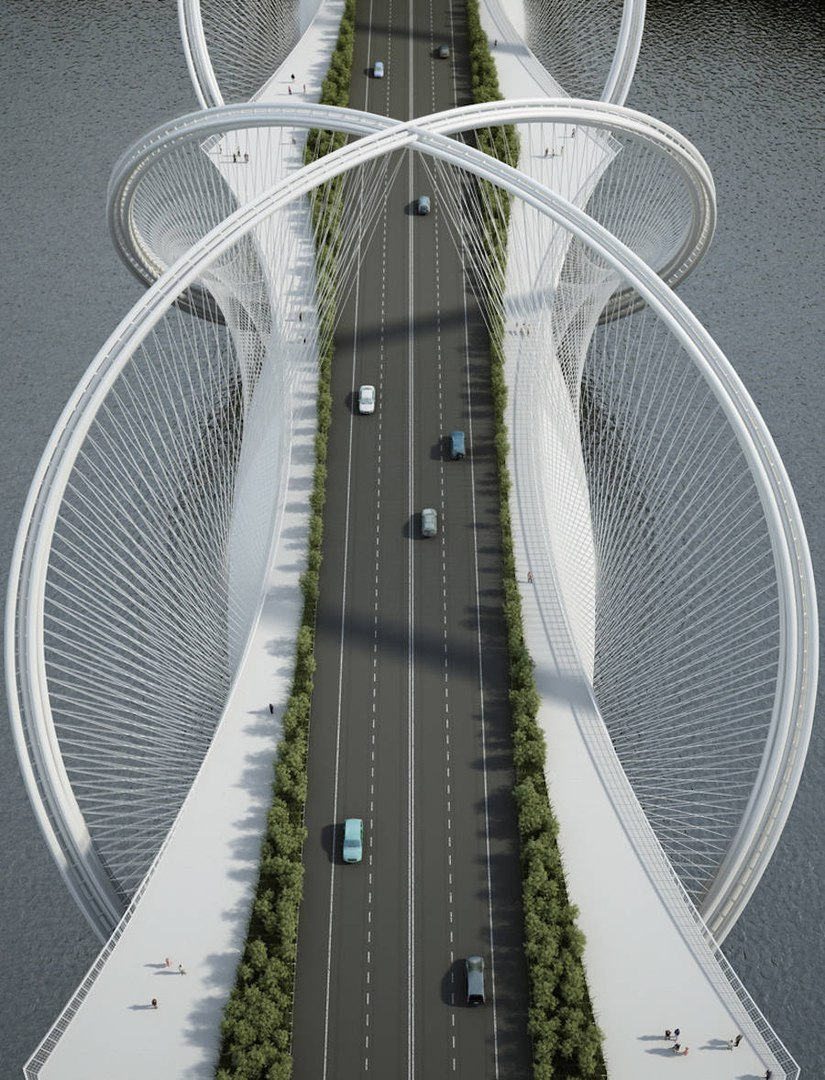 Bridge Concept Sculpted for the 2022 Beijing Winter Olympics