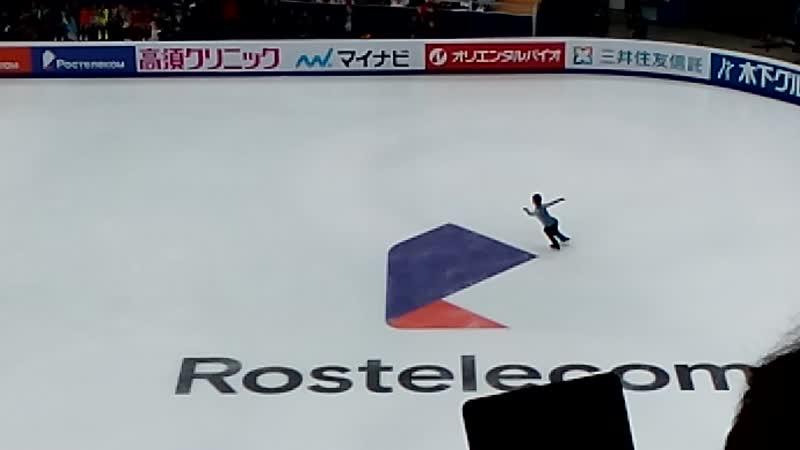 Олимпийский чемпион Юдзуру Ханью, Кубок Ростелеком. Короткая программа, 110,54.