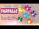 Tutorial Kanzashi butterfly 🌻 Farfalle di raso 🌻 Annarella Gioielli