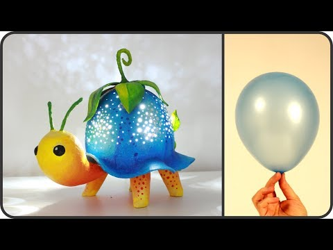 ❣DIY Turtle Lamp Using a Balloon❣