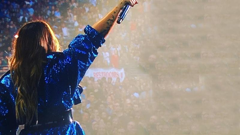 Demi Lovato performing on Amazon PrimeDay at CenturyLink Field in Seattle, WA - July 19, 2018