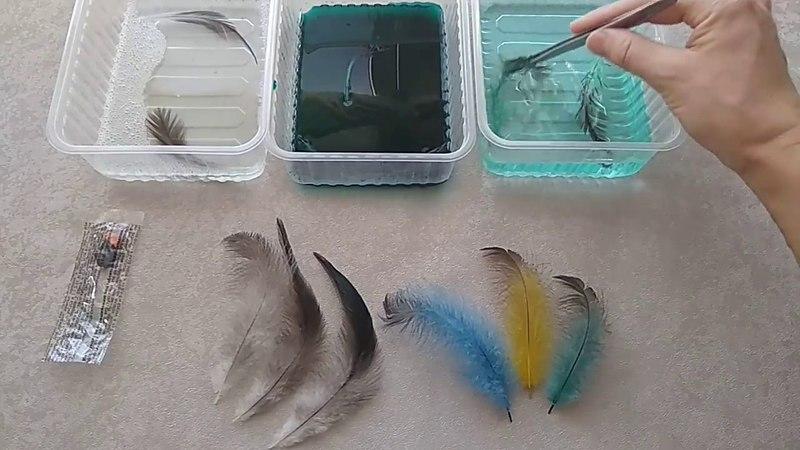 Мастер-класс по окрашиванию перьев. Творческая студия Natalini
