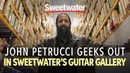 John Petrucci Geeks Out In Sweetwater's Guitar Gallery